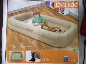 Intex Kidz Travel Bed with Hand Pump and electric quick fill