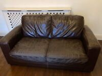 Free leather coated sofa