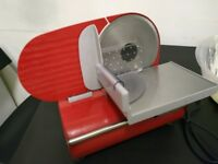 Food Meat Slicer Red Andrew James perfectly working