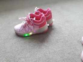 Girls Heely type light up shoes