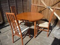 Morris of Glasgow Extending Dining Table & Four Chairs