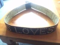 New All Saints Studded Leather Belt Size M/L