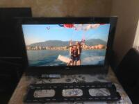 32 INCH TECHNIKA LCD TV HD READY FREEVIEW MODEL LCD32207 WITH WALL BRACKETS AND REMOTE