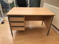 Office Desk lockable drawers with keys
