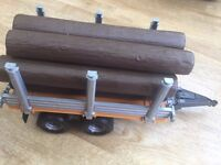 Bruder 02213 Timber Trailer with 7 wooden logs Trunks