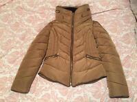 ZARA padded beige/tan coat