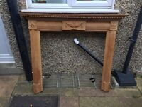Fireplace surround: wooden and decorative
