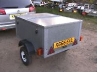 FULLY GALVANISED STEEL 4X3X2 BOX TRAILER WITH GALV STEEL LOCKING LID...