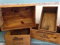 Vintage wooden wine crates / boxes