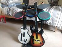 Guitar Hero Wii bundle - full band, extra guitar and mic, and lots of games!