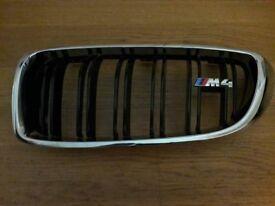 BMW Genuine M4 Kidney Grills with M4 badge, new.