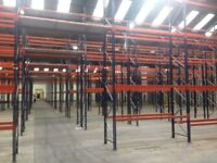 job lot 30 bays of dexion style pallet racking AS NEW( storage , industrial shelving )
