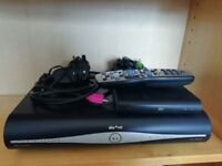 Sky+ HD Box, wireless receiver and remote + cables
