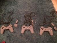3 x Sony Ps1 controllers