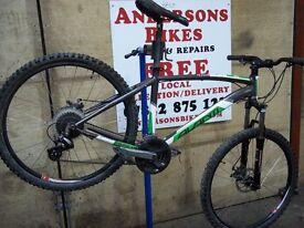 Mountian bikes Ex-hire Alloy frame disc brakes hardtail Avanti Montari bicycle cheep
