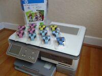 17 HP genuine ink cartridges plus HP Photosmart C8180 Printer/Scanner/Copier £20