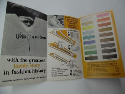 1968 Unique Zipper Company Clothing Zipper Fashion Catalog Brochure Vintage