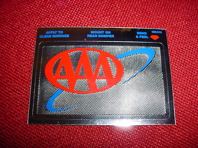 NEW AAA METALIZED ADHESIVE BACKED COLOR DECAL / STICKER LOGO CAR
