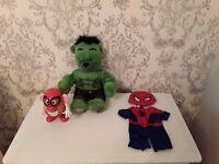 Hulk & Spiderman TOYS ***LIKE NEW***