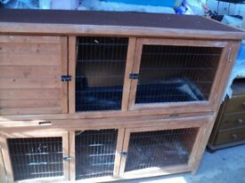 large rabbit hutch (double) in very good condition