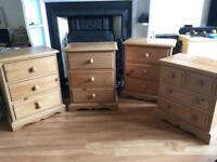 Beautiful solid pine bedside cabinets x 4 - Price is per unit