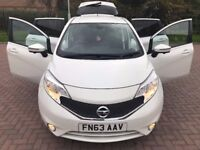 2013 NISSAN NOTE ACENTA PREMIUM SAFETY, S/S FULL SERVICE £20 YEAR TAX, LOW MILES, AMAZING SPEC