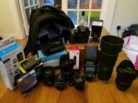 Nikon D7100 kit *PRICE DROP* 6 lenses 2 speedlites wireless ttl triggers and other accessories