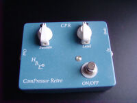 H.B.E. Homebrew Electronics Comp Retro, compressor guitar pedal, sustain, analogue, USA made