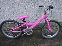 Specialized hot rock bike suit age 7 to 9 years, 20 inch wheels, 7 gears, pink