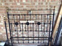 Victorian Cast Iron Double Bed Frame