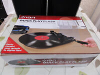 Ion Quick Play Flash turntable size 14inches x10x4 used for few Lps as new