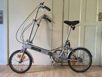 Original Bickerton Foldable Bike Bicycle Vintage Retro Old Chopper Style Womens Mens