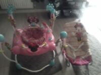 Baby bouncer and baby rocker