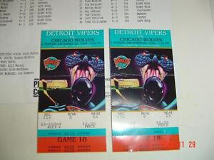 DETROIT VIPERS 1994 FIRST SEASON HOCKEY PROGRAM & 2 TICKET STUBS Windsor Region Ontario image 3