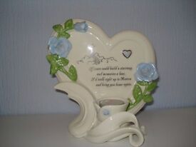 Stairway to Heaven Porcelain Candle Holder Bradford Exchange NEW GIFT