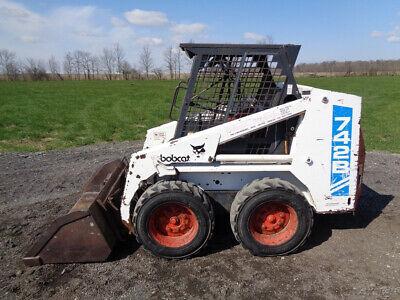1995 Bobcat 742b Skid Steer Stickspedals Aux Hydraulics 2784 Hours.