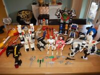 Large Vintage Power Rangers joblot - Megazords, weapons, figures