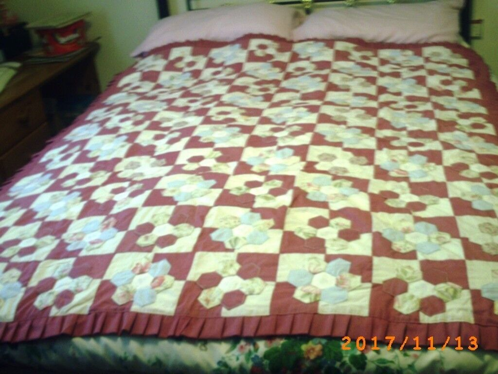 Handmade quilted throw.
