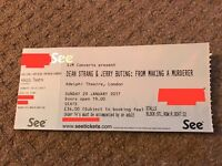 """2 x Tickets **Dean Strang and Jerry Buting: A Conversation on """"Making a Murderer"""" **"""