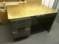 Original Vintage Stripped Metal Desk
