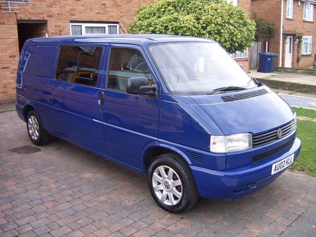 vw lwb t4 2 5 tdi 02 plate transporter blue camper van. Black Bedroom Furniture Sets. Home Design Ideas