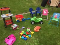 Large selection of garden toys
