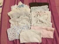 Baby vests and sleepsuits