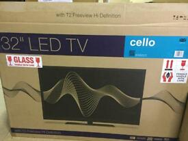 """Brand new 32"""" tv with freeview"""