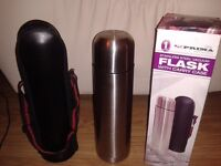 Prime 1 litre stainless steel flask with carry case in boxed