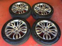 21'' GENUINE RANGE ROVER SPORT LAND DISCOVERY ALLOY WHEELS ALLOYS TYRES 5x120 VOGUE
