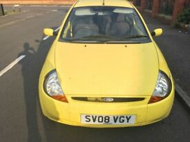 2008 ford ka yellow style 1.3 56000 miles full service history 2 keys