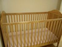 Like new ladybird cot bed and mattress