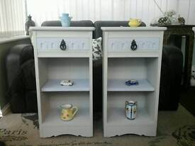 Retro Vintage Shabby Chic bedside units / tables