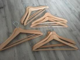 X12 wooden hangers brand bew